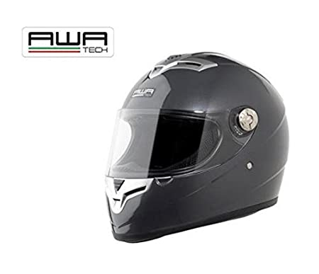 AWA solid tech casque intégral taille l (gris)