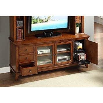 Homelegance Culbert 72 Inch TV Stand in Warm Cherry