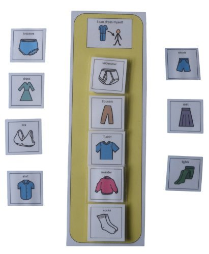 Autism Supplies And Developments PECS Getting Dressed Schedule