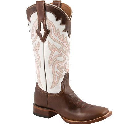 55be8ae0f3d Lucchese Women s Resistol Ranch White with Natural Oil Calf Brown ...