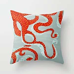 Inexpensive Throw Pillow Inserts : Amazon.com - Simple Design Cheap Pillowcase Octopus Throw Pillow