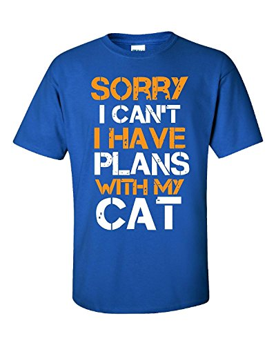 Elagos Sorry I Can't I Have Plans With My Cat - Adult Shirt X-Small
