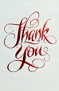 """50 Premium Quality 4x6 """"Thank You"""" Greeting Cards at Wholesale Price - Beautiful Designer Quality Cards in 5 Different Designs (BLANK INTERIOR)"""