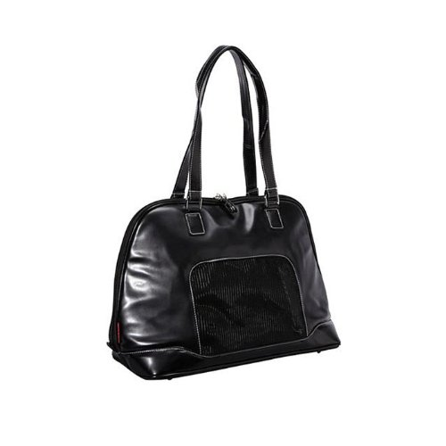 Bark N Bag Bowler Pet Tote- Black Size: 18.5