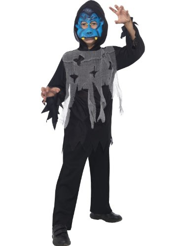 Smiffy's Vampire Instant Kit Mask Robe (Blue)