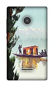 The Racoon Lean Kashmir hard plastic printed back case / cover for Microsoft Lumia 532