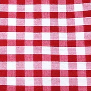"""Red Gingham 1/4"""" Check Cotton Fabric - per metre"""