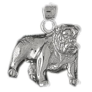 CleverSilver's Sterling Silver Pendant Bulldog