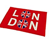 (Bluerefrain) デザイン マット おしゃれ な 玄関 フロアー マット I love London ( 40×60cm) (ユニオンジャック)