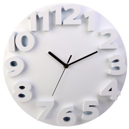 LGI Modern Contemporary 3D Wall Clock - Choose Your Color (White)