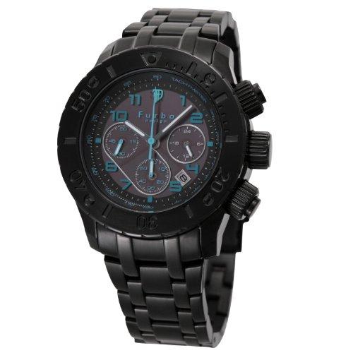 [フルボデザイン]Furbo Design Ilsole 腕時計 FS301 ソーラークォーツ クロノグラフ 10気圧防水 ブラックIP ブラック メンズ FS301BBKBL メンズ
