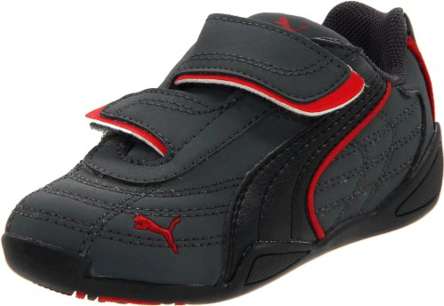 Puma Tune Cat Nubuck V Sneaker (Toddler/Little Kid/Big Kid),Steel Grey/Black/Ribbon Red,9 M US Toddler