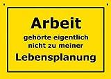 Postkarte A6 +++ VERBOTENE SCHILDER von modern times +++ LEBENSPLANUNG +++ ARTCONCEPT © VERBOTENE SCHILDER