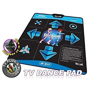 DDR Game 16-Bit Graphics TV Plug & Play Single Player Dance Pad with 15 Songs