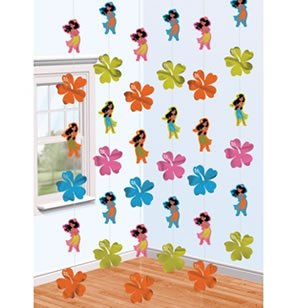 Amscan BB681077 Hula Girl Printed String Decorations