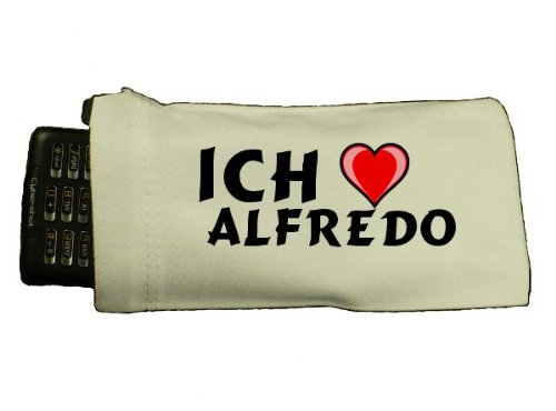 Personalisierte Telefonh&#252;lle mit Aufschrift Ich liebe Alfredo (Vorname/Zuname/Spitzname)