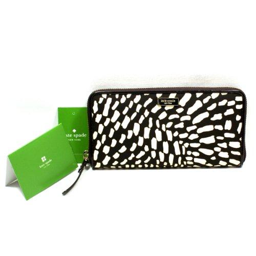 Kate Spade Neda Lindenwood Safari Zip Around Wallet/ Clutch (Dark Brown) #Wlru1239