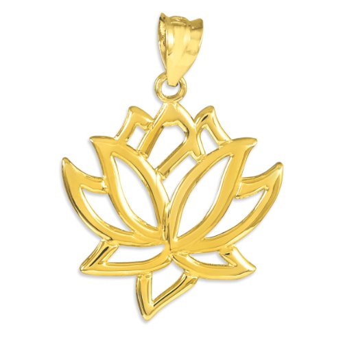 flower-collection-womens-10k-yellow-gold-lotus-flower-pendant