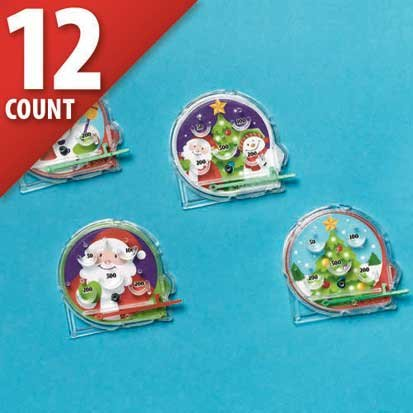 Christmas Mini Pinball Games 12ct