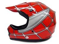 Youth Kids Red Spider Net Dirt Bike Motocross MX Dirt Bike ATV Off-Road Helmet DOT (Medium) from T-Motorsports