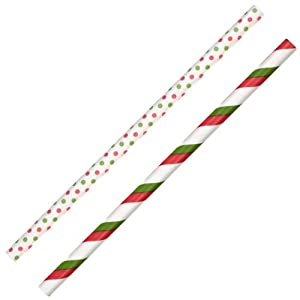Wilton 1912-6000 Holiday Colored Lollipop Sticks, Red and Green Stripe