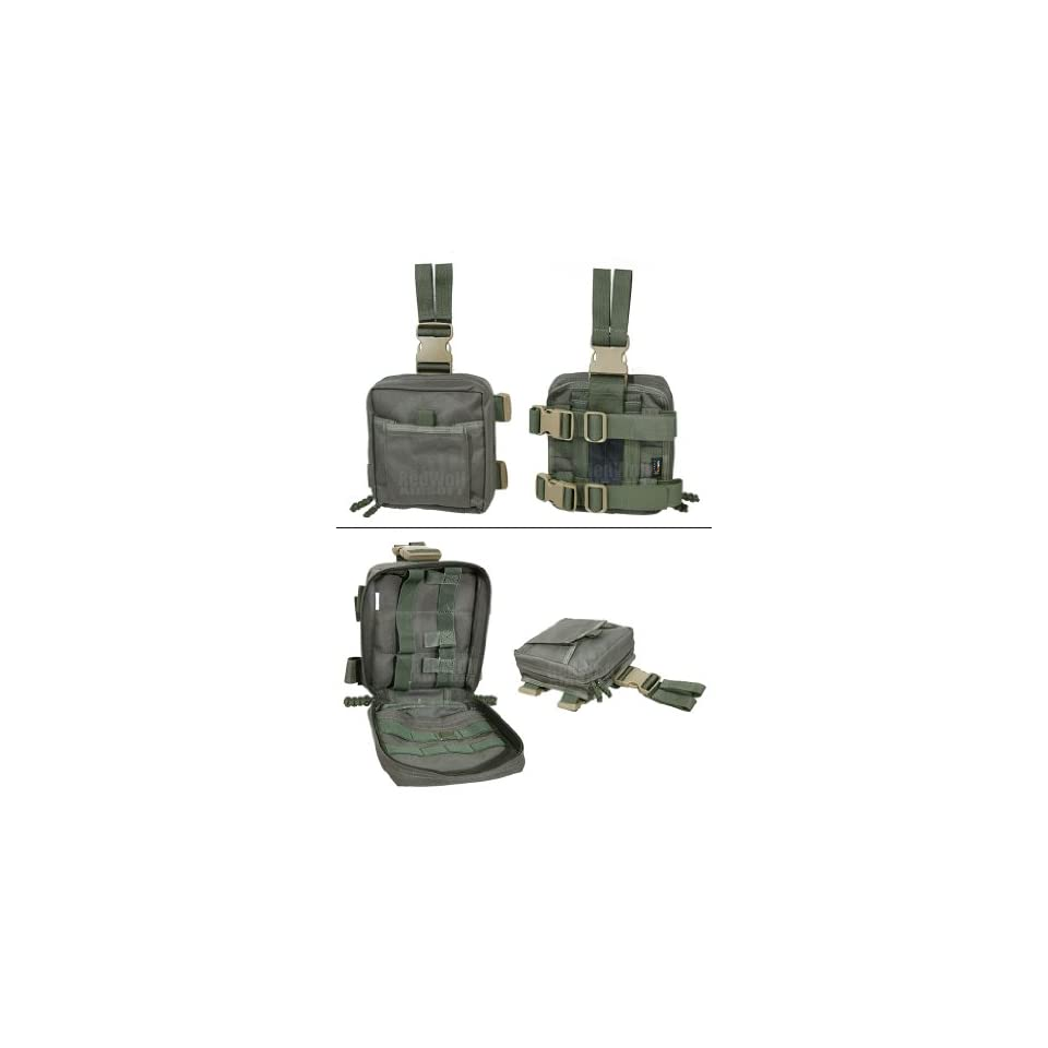 Pantac MOLLE Spec Ops Dropleg Medic Pouch (Ranger Green / Cordura