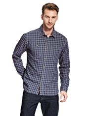North Coast Pure Cotton Gingham Checked Shirt