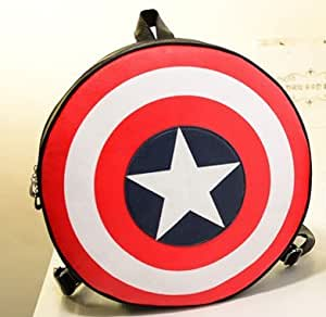 The new color of bump in Europe and the united captain America's shield circular students backpack