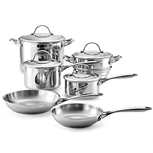 Cooks Standard NC-00203 Classic Stainless Steel 10-Piece Cookware Set by Cooks Standard