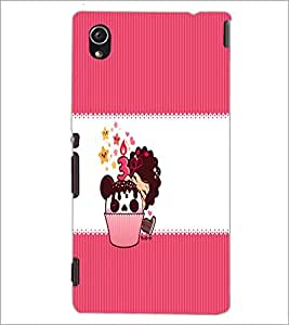 PrintDhaba Cup Cake D-3301 Back Case Cover for SONY XPERIA M4 AQUA (Multi-Coloured)