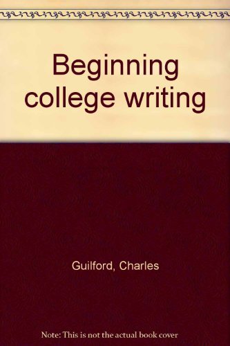Beginning college writing