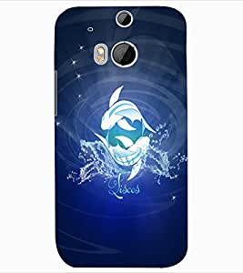 ColourCraft Zodiac Pisces Design Back Case Cover for HTC ONE M8