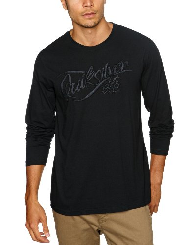 Quiksilver Springs-KPMJE203 Logo Men's T-Shirt Black XX-Large
