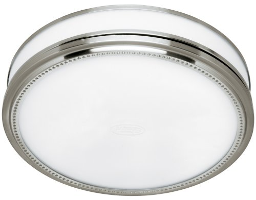 Hunter 83001 Riazzi Bathroom Fan with Light and Nightlight, Brushed Nickel