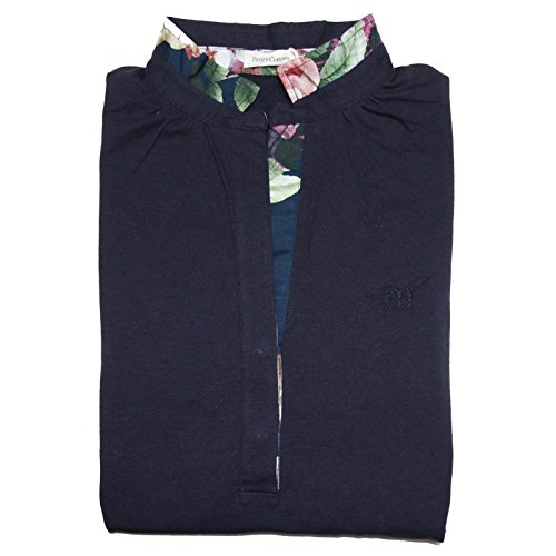 A0574 polo donna HENRY COTTON'S STRETCH manica lunga blu t-shirt woman [42]
