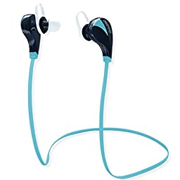 One Day Sale: Bluetooth Earbuds with mic. Wireless Headsets. Mini Headphones Sport, sweatproof with Noise Isolating, High Quality Stereo Sound Ear buds - CSR V4.0 Chip - Sleek Custom Headset, Lightweight Design - Earphones for Running, Jogger, Gym, Hiking