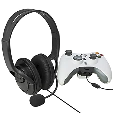 eForCity Headset with Microphone for MicroSoft xBox 360, Black