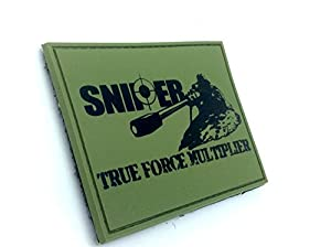 SNIPER True Force Multiplier Olive Drab Airsoft Velcro PVC Patch