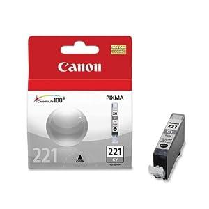 Canon CLI-221 Ink Tank (Gray), Genuine Ink