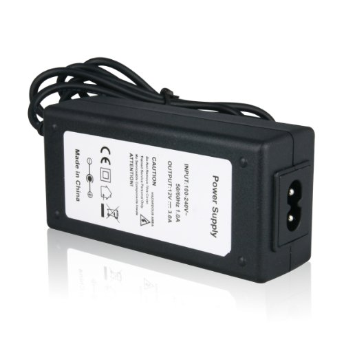 Lighting EVER® Power Adaptor, Transformers, Power Supply For LED Strip, 12V, 3A Max, 36 Watt Max, US Plug