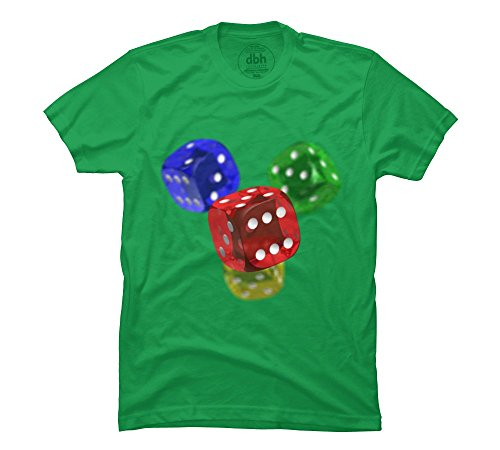 Roll The Dice Men'S 3X-Large Kelly Green Graphic T Shirt - Design By Humans