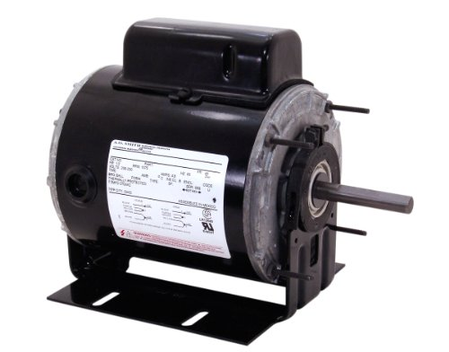A.O. Smith 733A 1/2 Hp, Psc, Teao Enclosure, 5.6/2.8 Amps, 1/2-Inch By 4-1/8-Inch, Reversible Rotation, Ball Bearing Unit Heater Motor
