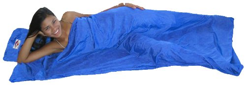 Travel and Camping Sleeping Sheet Dream in Bliss Sleep Sack Sleeping Bag Liner and Travel Pillow Purple Hammock Bliss Sleep Sack