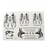 OnceAll Egyptian Wolf Pattern Temporary Tattoo Sticker 6013