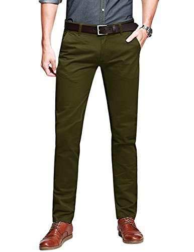 match-mens-slim-fit-tapered-stretchy-casual-pants-32w-x-31l-8050-army-green