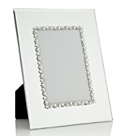 "Gem Embellished Mirrored Photo Frame 10 x 15cm (4 x 6"")"