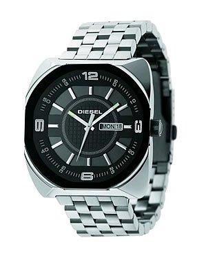 Diesel Watches Men's Black Analog 5 Link Bracelet (Black)