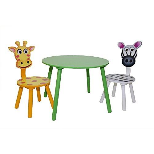 Zebra-Giraffe-Kindertischgruppe-bunt-mit-1-Tisch-und-2-Sthlen