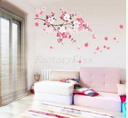 A NEW Sakura Flower Removable Wall Sticker Paper Mural Art Decal Home Room Decor