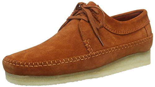 clarks-weaver-mens-moccasins-brown-rust-suede-8-uk-42-eu